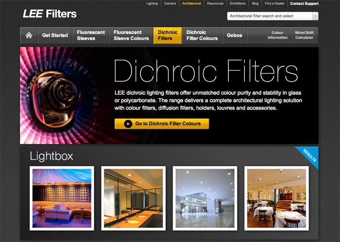 Lee Filters website