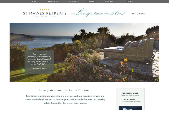 St Mawes Retreats Website